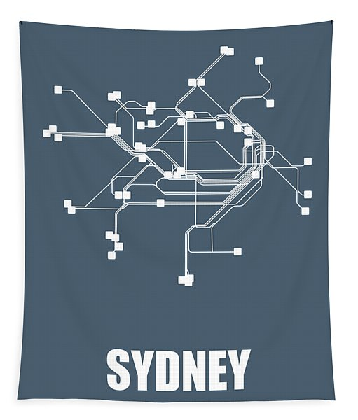 Subway Map Tapestry.Sydney Wall Tapestries Fine Art America