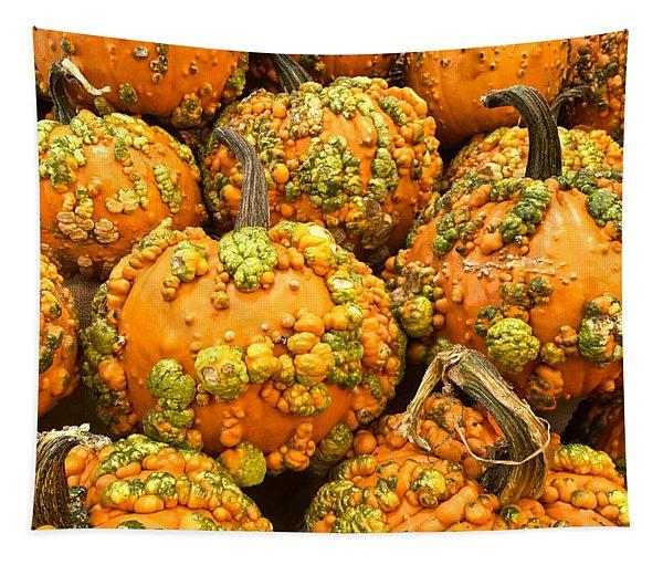 Textured Pumpkins  Tapestry