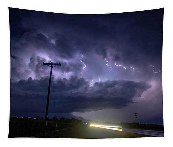 Tapestry featuring the photograph The Best Supercell Of The Summer 043 by NebraskaSC