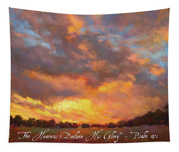 The Heavens Declare His Glory W/ Bible Verse Tapestry