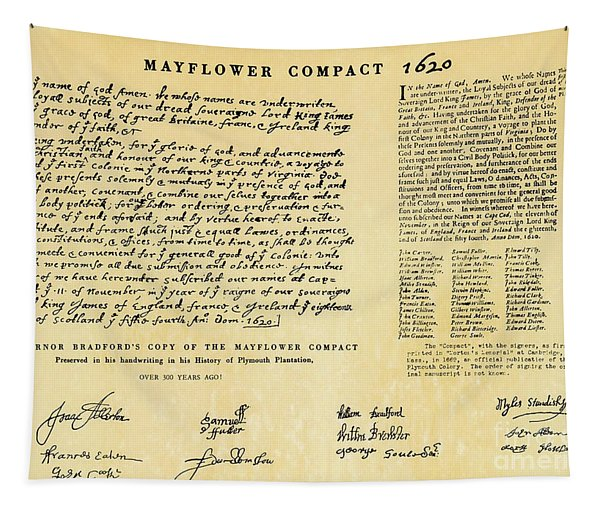 The Mayflower Compact  Tapestry
