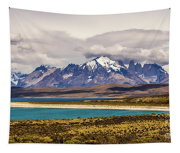 The Mountains Of Torres Del Paine National Park, Chile Tapestry