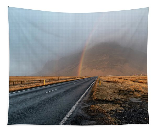 The Rainbow Road Tapestry