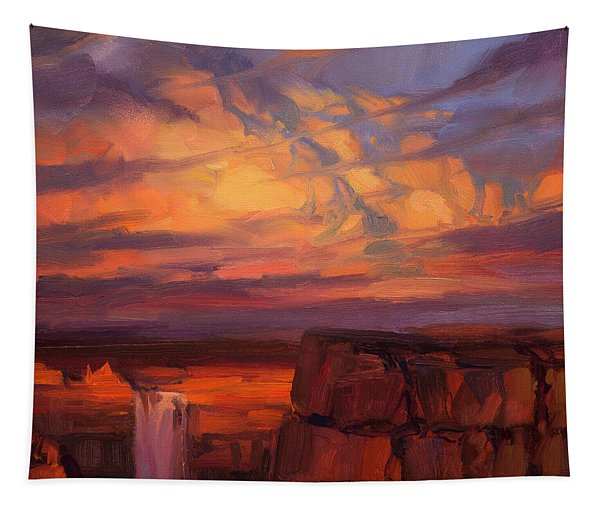 Thundercloud Over The Palouse Tapestry