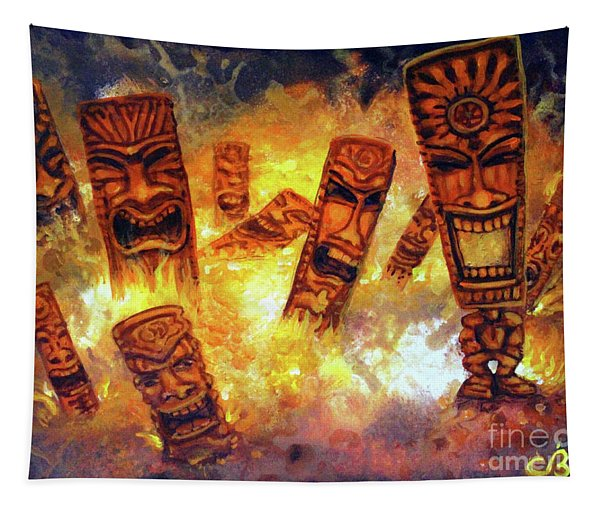 Tiki Hot Spot Tapestry