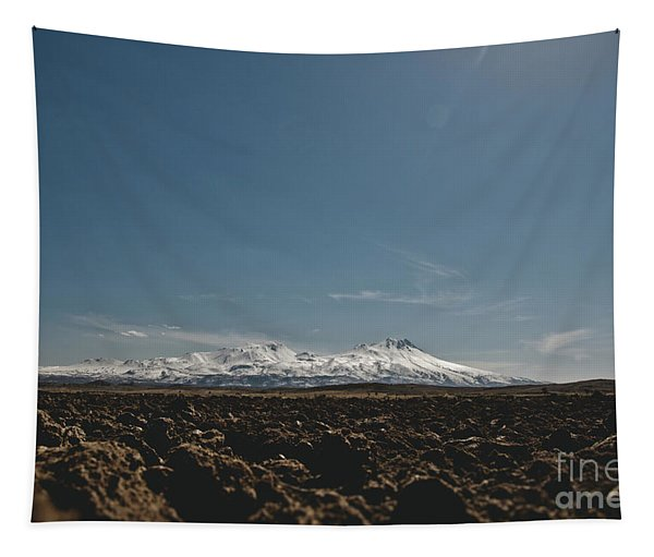 Turkish Landscapes With Snowy Mountains In The Background Tapestry