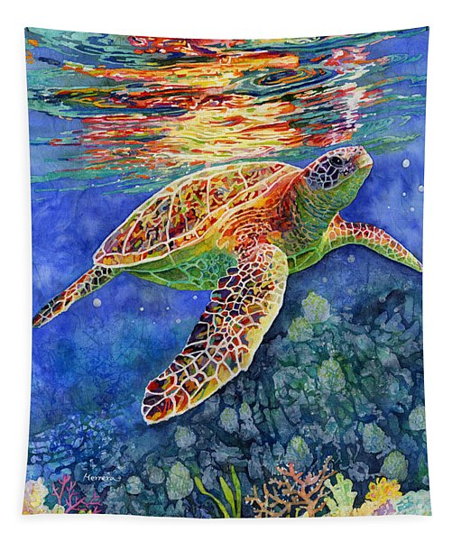 Turtle Reflections Tapestry