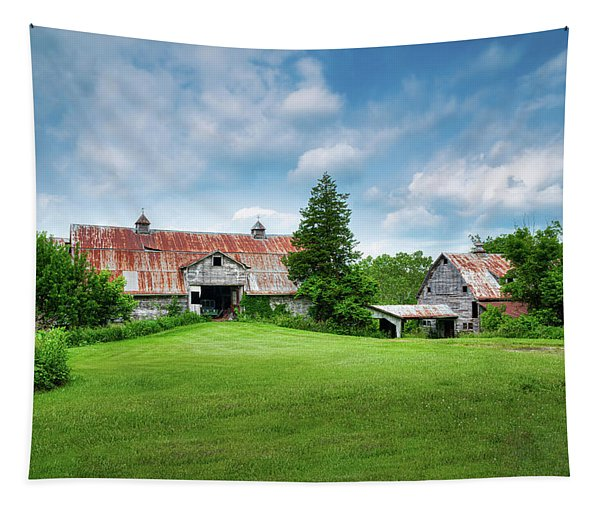 Two Old Barns Tapestry