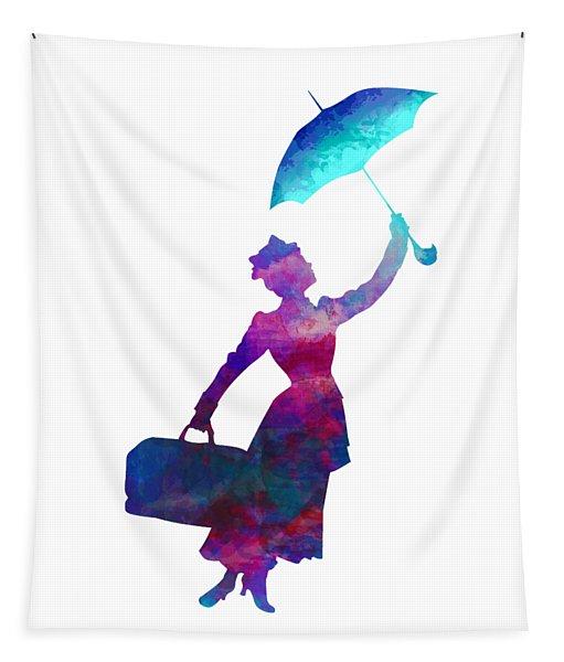 Umbrella Lady Tapestry