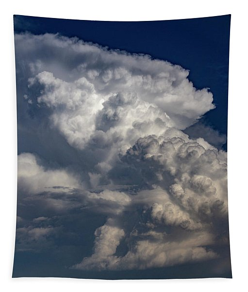 Tapestry featuring the photograph Updrafts And Anvil 008 by NebraskaSC