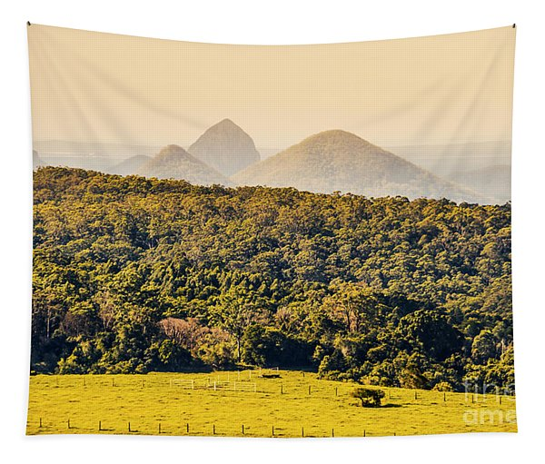 View To The Sunshine Coast Tapestry