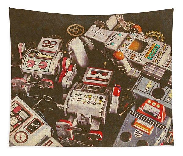 Vintage Robotronics Tapestry