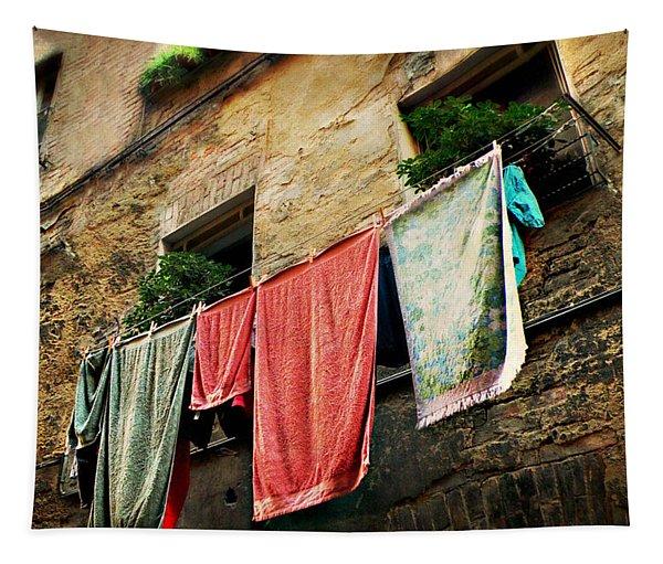 Wash Day In Siena Tapestry