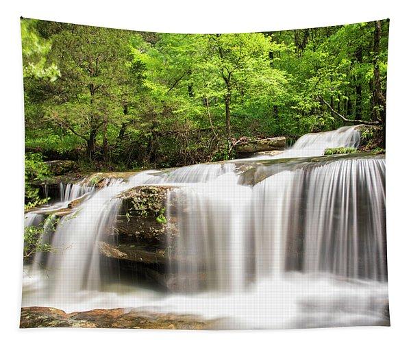 Waterfall In Forest, Burden Falls Tapestry
