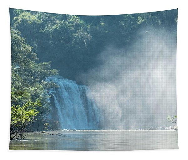 Waterfall, Sunlight And Mist Tapestry