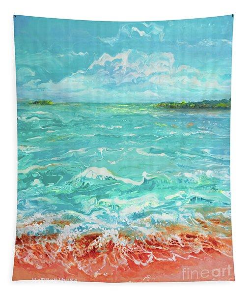 Waves At Sombrero Beach Tapestry
