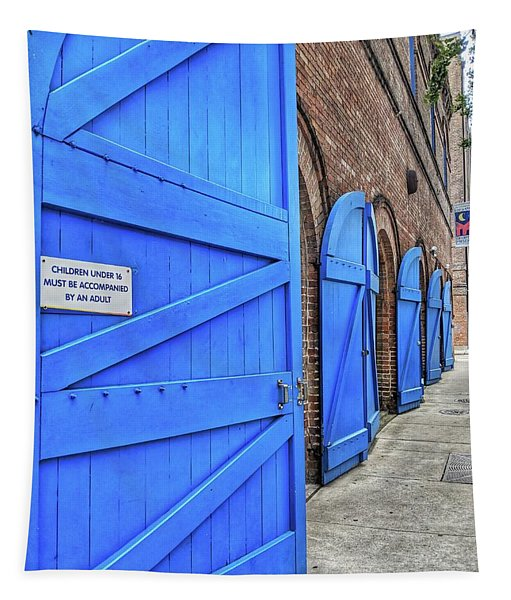 Which Blue Door Tapestry