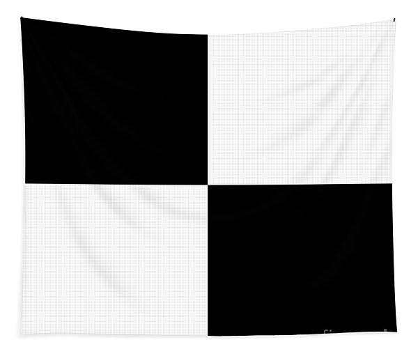 White And Black Squares - Ddh586 Tapestry