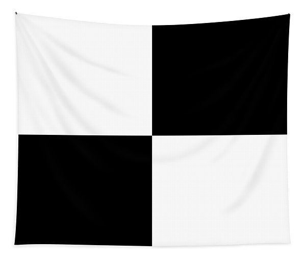 White And Black Squares - Ddh588 Tapestry