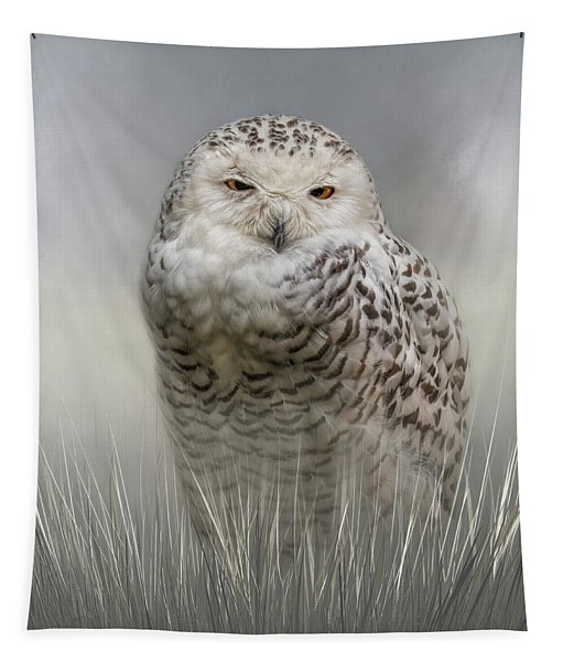 White Beauty In The Field Tapestry