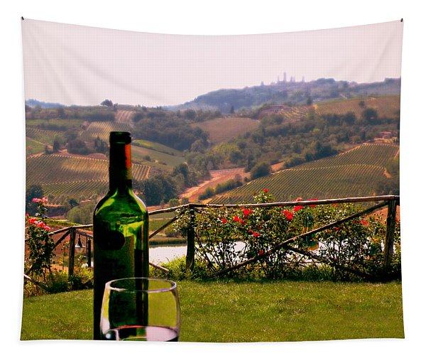 Wine Tasting In Tuscany Tapestry