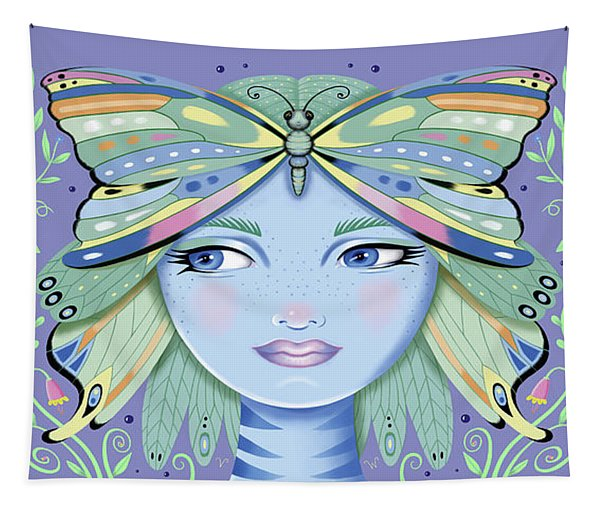 Insect Girl, Winga - Purple Tapestry