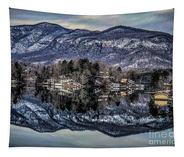 Winter At Lake Lure 1 Tapestry