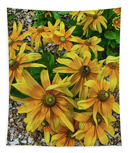 Yellow In Bloom Tapestry