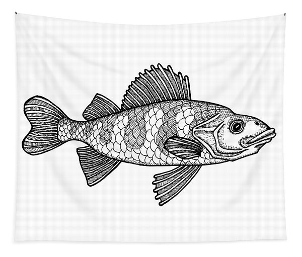 Yellow Perch Tapestry