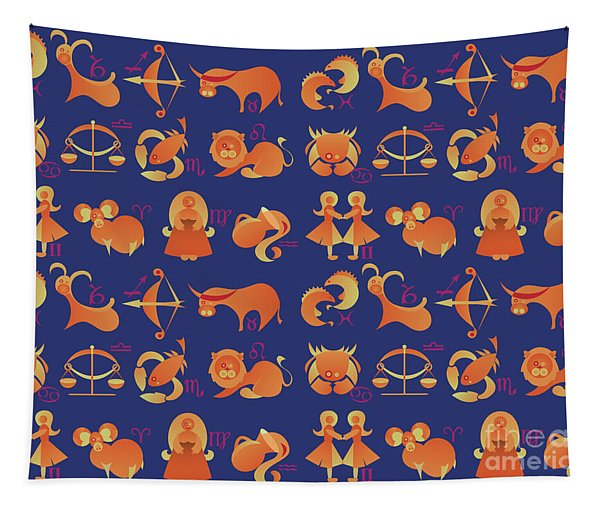 Zodiac Signs Set Tapestry