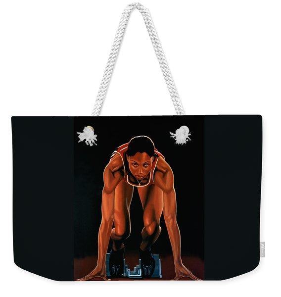 Allyson Felix Painting  Weekender Tote Bag