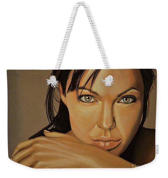 Angelina Jolie 2 Weekender Tote Bag