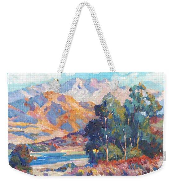 California Lake Weekender Tote Bag