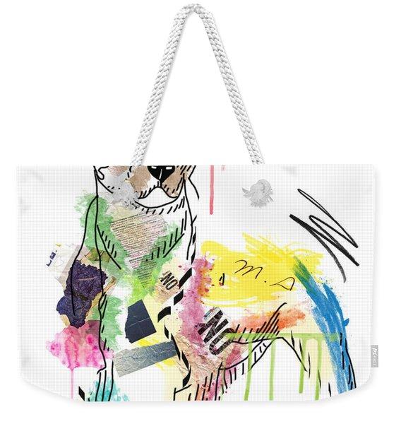 Cute Pit Bull Weekender Tote Bag