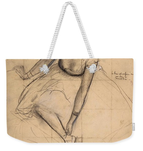 Dancer Adjusting Her Slipper Weekender Tote Bag