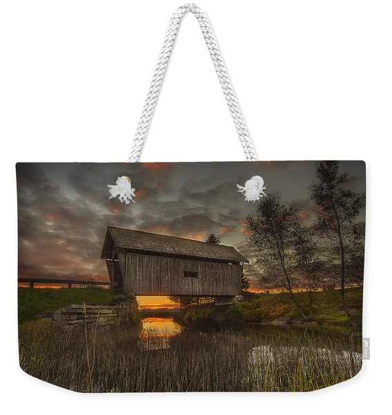 Foster Covered Bridge Sunset Weekender Tote Bag