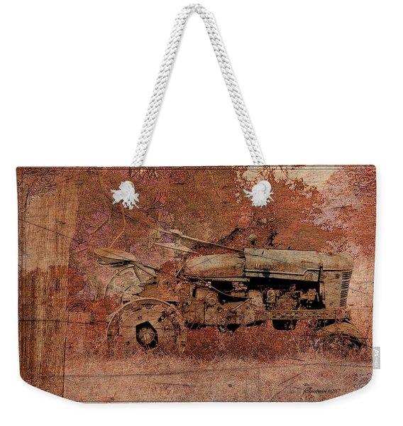 Grandpa's Old Tractor Weekender Tote Bag