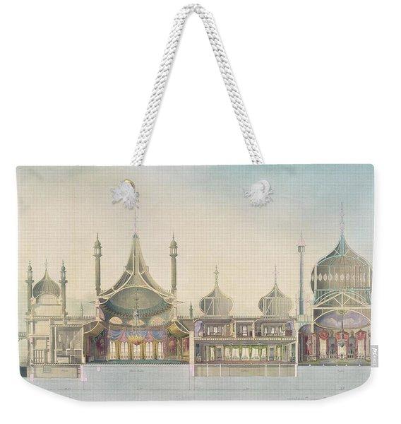 Longitudinal Section Organ Weekender Tote Bag