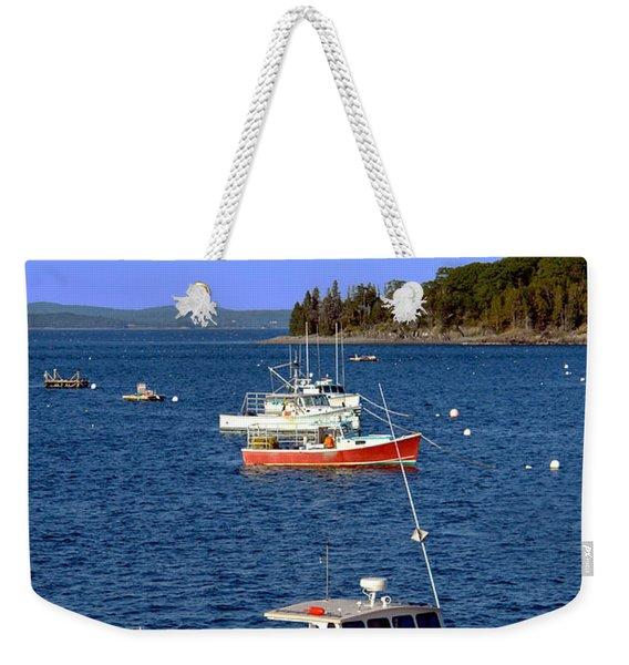 Maine Lobster Boat Weekender Tote Bag