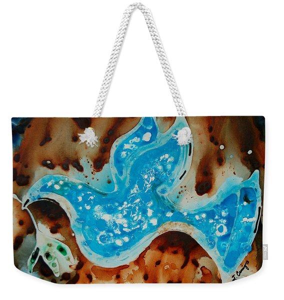 Peace Dove - Art By Sharon Cummings Weekender Tote Bag