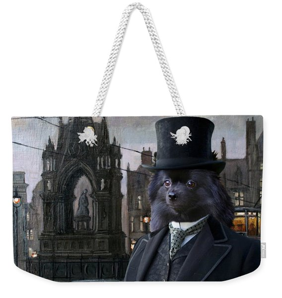 Pomeranian Art Canvas Print Weekender Tote Bag