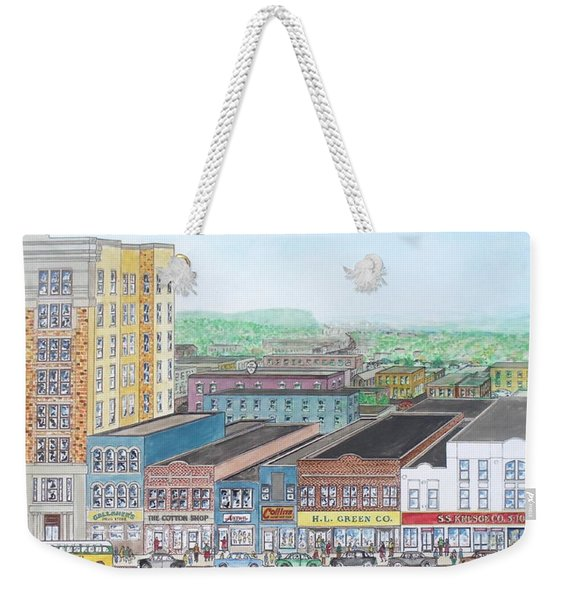 Portsmouth Ohio Dime Store Row 4th To 5th Weekender Tote Bag