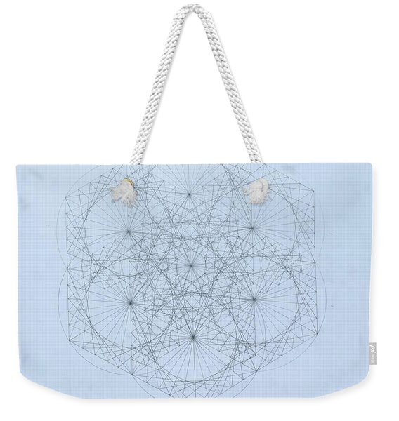 Quantum Snowflake Weekender Tote Bag
