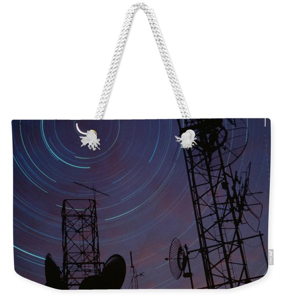 Radio Towers And Star Trails Weekender Tote Bag