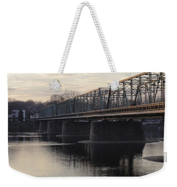 Gulls At The Bridge In January Weekender Tote Bag
