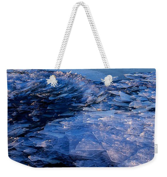 Weekender Tote Bag featuring the photograph  Superior Winter   by Doug Gibbons