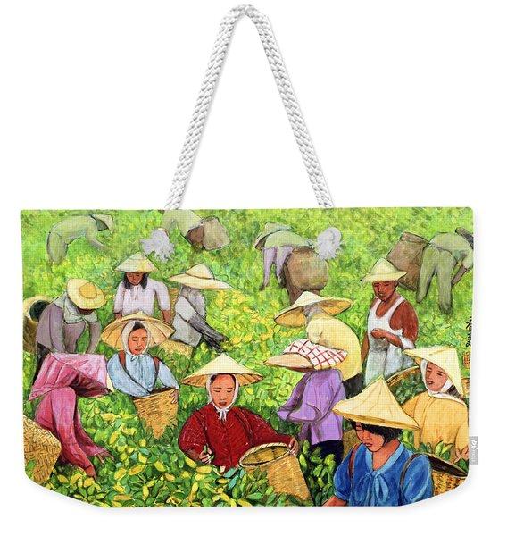 Tea Picking Girl Weekender Tote Bag