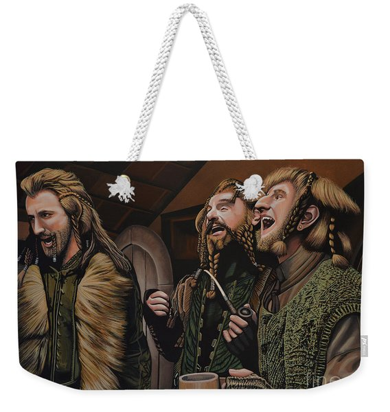 The Hobbit And The Dwarves Weekender Tote Bag