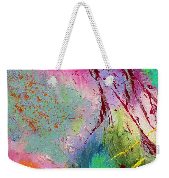 Modern Abstract Diptych Part 1 Weekender Tote Bag