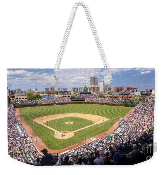 0100 Wrigley Field - Chicago Illinois Weekender Tote Bag